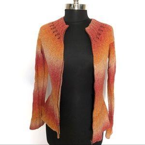 Anthropologie Moth Wool Ombre Zip Up Cardigan Med